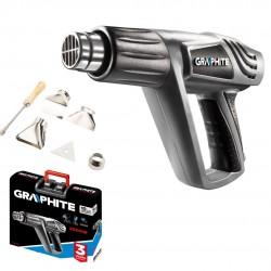 GRAPHITE 59G522 Opalarka 2000W 25ºC - 550ºC+walizka