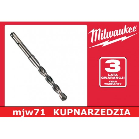 MILWAUKEE WIERTŁA SDS-PLUS MS2 - 2 - ostrzowe/10 sztuk w opakowaniu