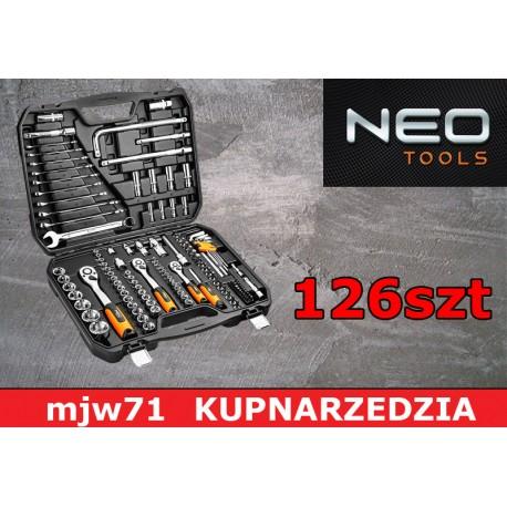 """NEO TOOLS Klucze nasadowe 126szt. 1/4"""", 3/8"""" 1/2"""" CrV 08-667"""