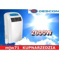 DESCON - Klimatyzator przenośny 2600W  DA-C260  DEDRA
