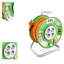 KEL - Przedłużacz bębnowy 3x1,5/40M H05VV-F Pomarańczowy