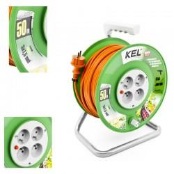 KEL - Przedłużacz bębnowy 3x1,5/50M H05VV-F Pomarańczowy